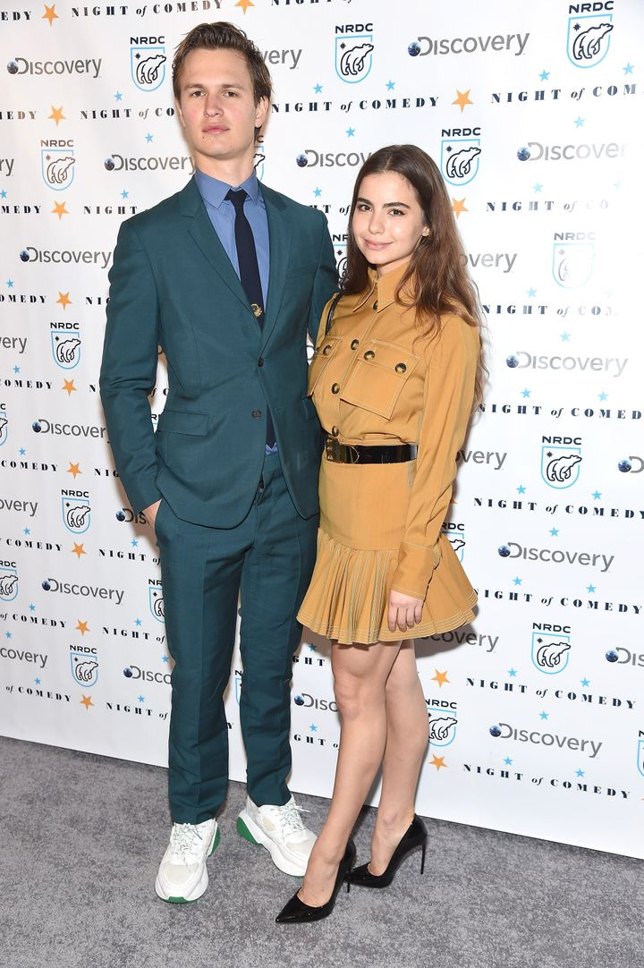 Elgort and Komyshan attend the NRDC's 'Night of Comedy' benefit at New York Historical Society on April 30.