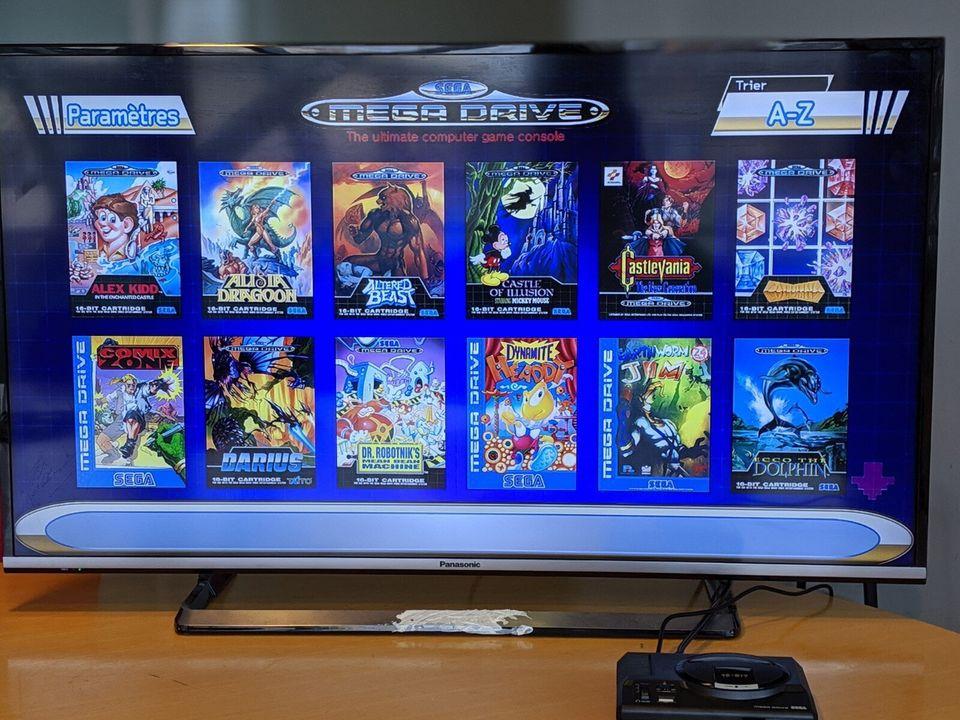 Le menu de la Mega Drive Mini est fort