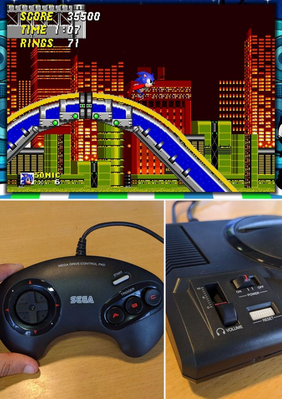 Une image en arrière plan apparaît si vous jouez dans le format original à Sonic par