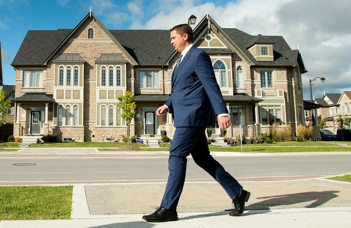 Federal Conservative leader Andrew Scheer makes a campaign stop in Vaughan, Ont., Mon. Sept. 23.