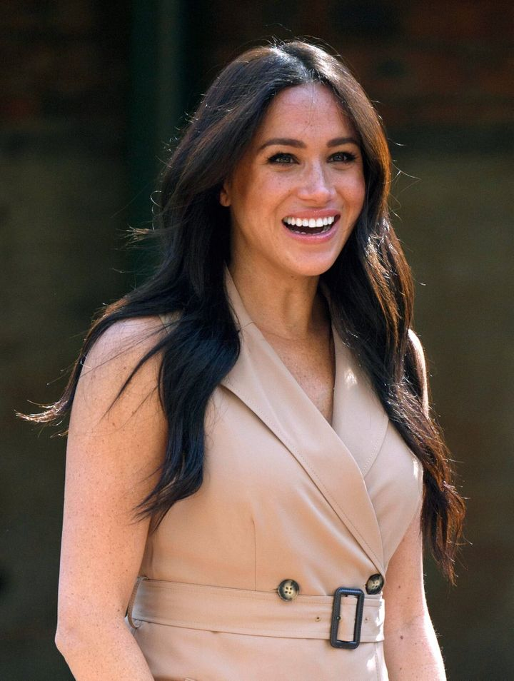 The Duchess of Sussex, patron of the Association of Commonwealth Universities, visits the University of Johannesburg in South