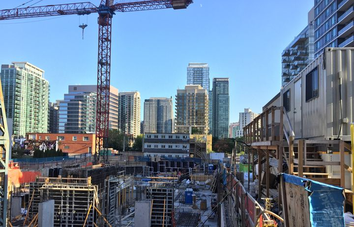 Construction of a new condo building in Toronto, Sept. 5. The Royal Bank of Canada estimates Toronto needs to be building new homes at twice the current pace to keep rents from rising further.