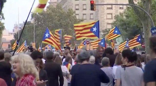 Manifestación en Barcelona por el segundo aniversario del