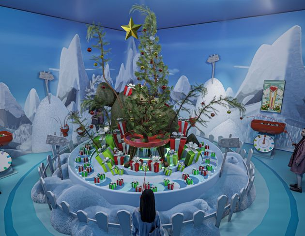 A sneak peek at the Grinch-themed room that attendees can visit at the Dr. Seuss Experience on its first...