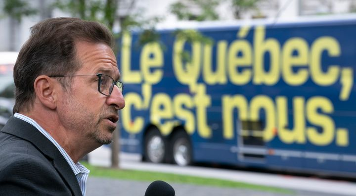 Bloc Quebecois Leader Yves-Francois Blanchet makes an announcement in Montreal on Sept. 24, 2019.
