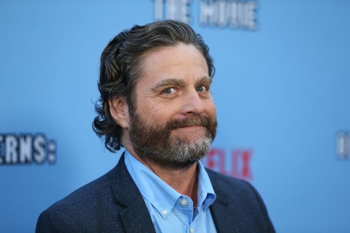 """Zach Galifianakis at the Los Angeles premiere of Netflix's """"Between Two Ferns: The Movie"""" on Sept. 16."""