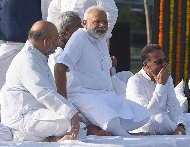 Prime Minister Narendra Modi, BJP president Amit