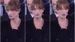 Hollande sussurra qualcosa a Carla Bruni ai funerali di Chirac: l'ex premier dame sconvolta