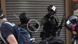 NYT가 홍콩 경찰 '실탄 발포' 영상을 다각도로 분석한