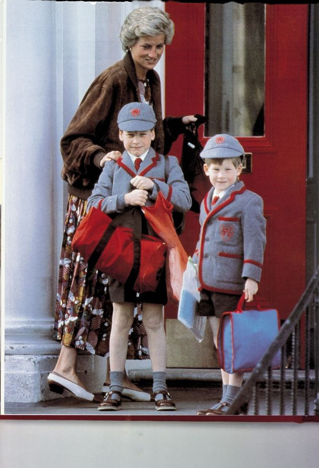 Princess Diana and her children in
