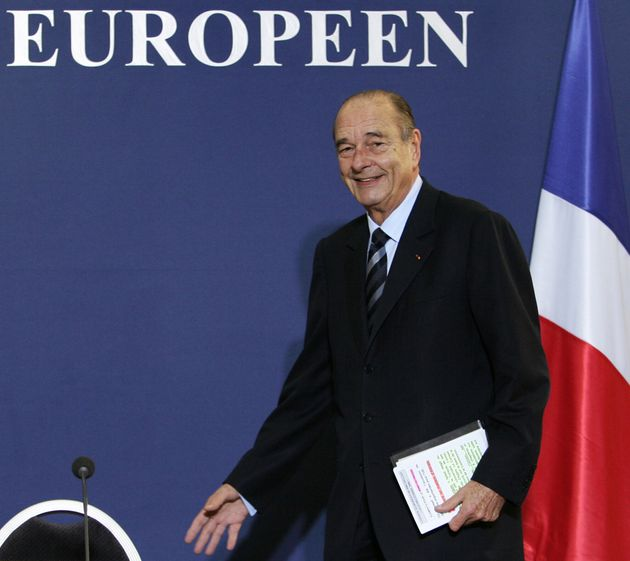 Jacques Chirac lors d'un sommet européen, le 15 décembre 2006 à