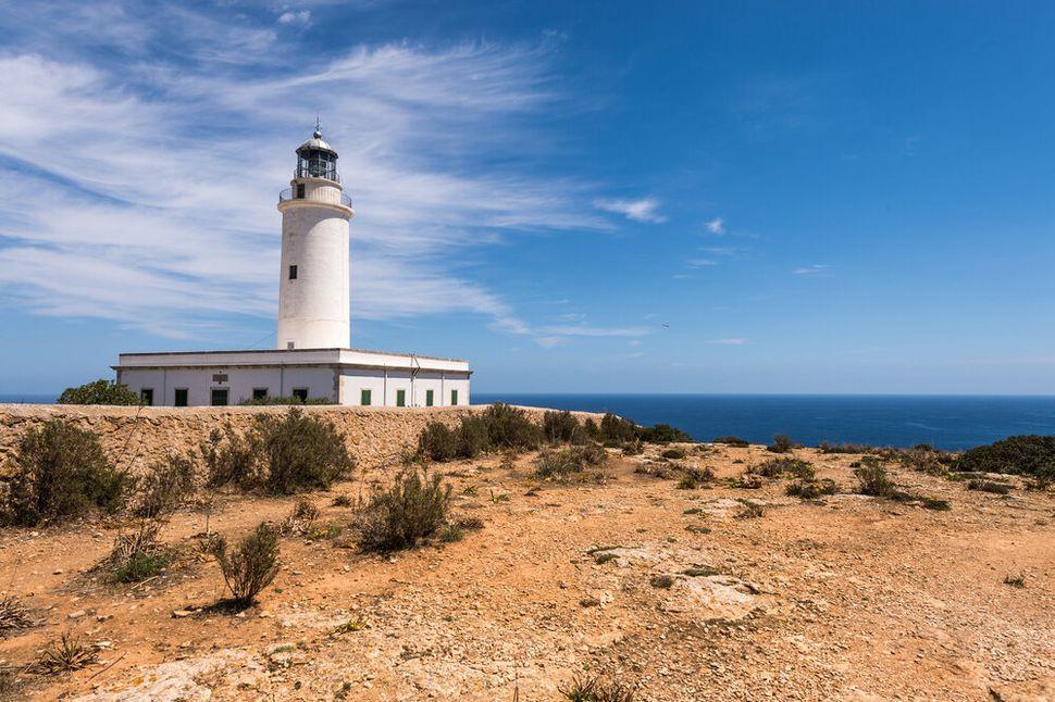 El Faro de Cap de Barbaria en Formentera (Islas Baleares).