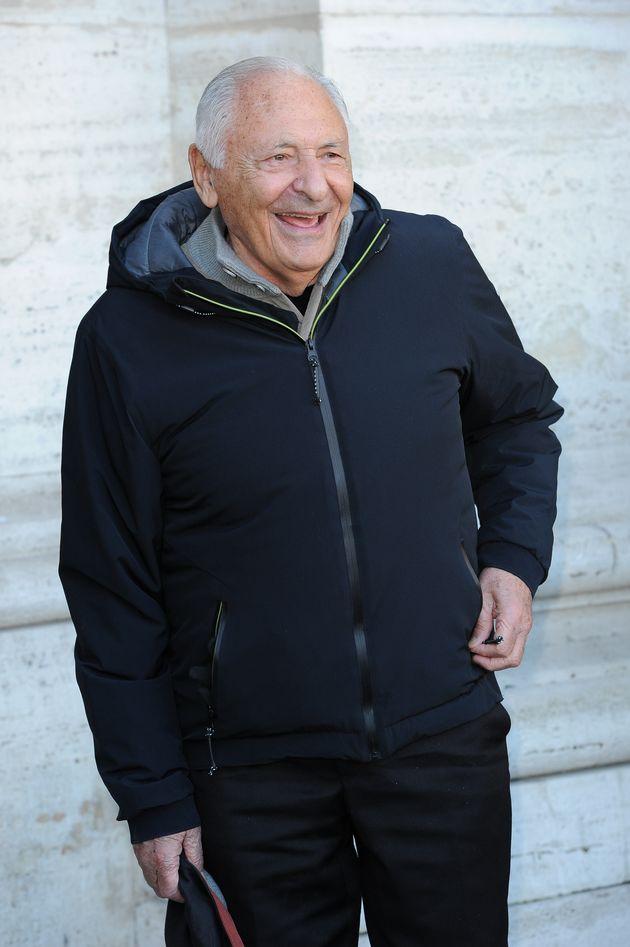 Italian record producer and writer Giulio Rapetti Mogol during Un'Avventura photocall. Rome, February...