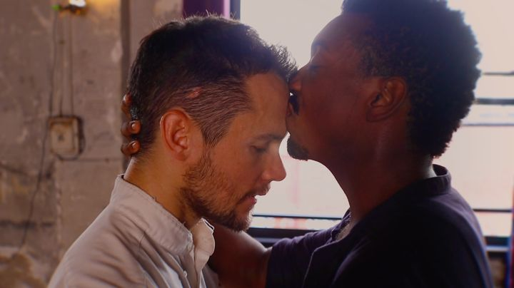"Jeff Sykes (left) and Tyler McKenzie star in the ""Wild"" video as two lovers caught in an emotional and physical tug of w"