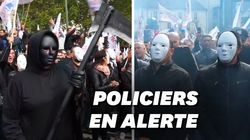 À la Marche de la colère, une faucheuse rend hommage aux policiers