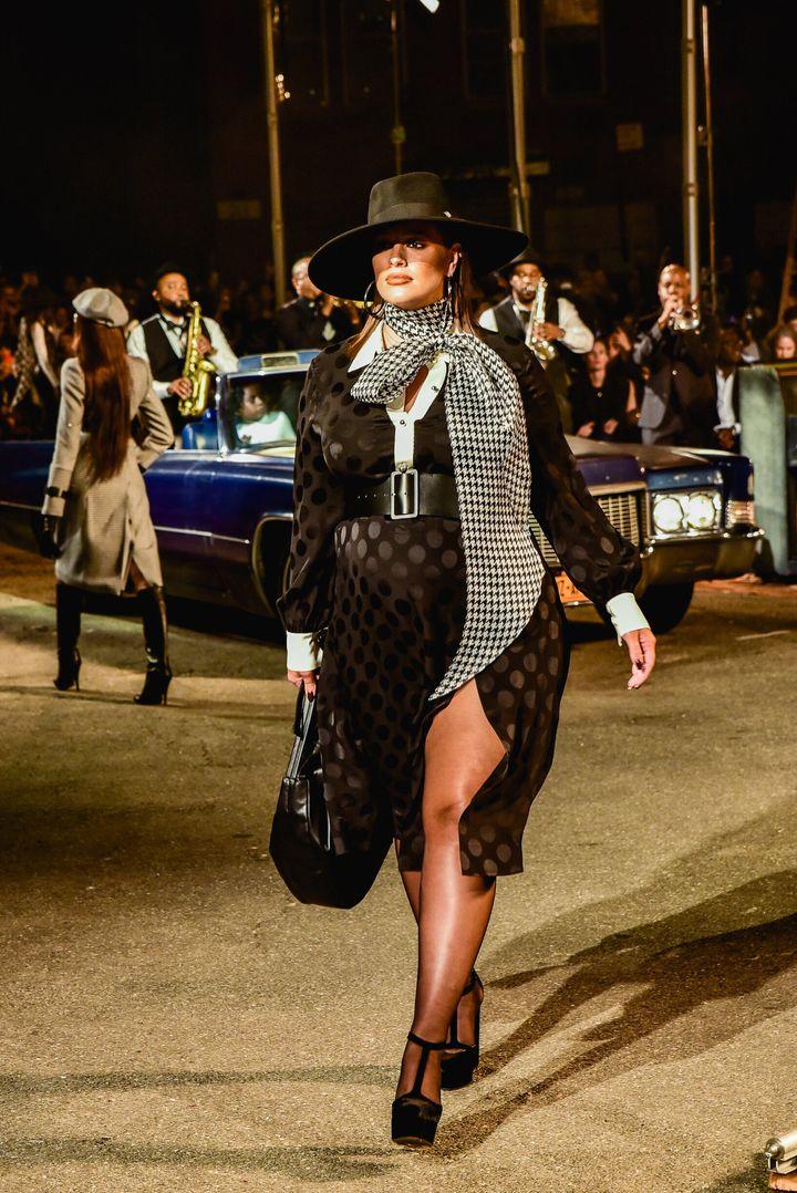 Ashley Graham walks the runway at the Tommy Hilfiger x Zendaya show on Sept. 8, 2019.