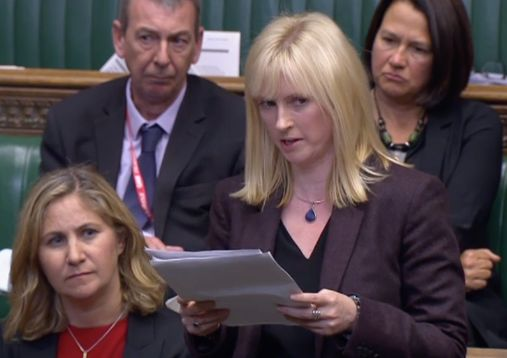 Rosie Duffield speaking in the House of Commons about her abuser.