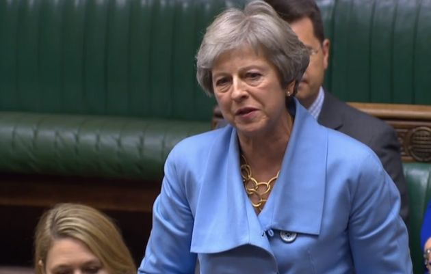 Theresa May in the Commons on