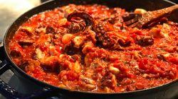 Pulpo en salsa
