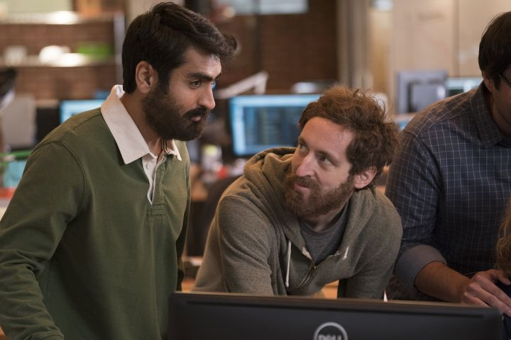 "Kumail Nanjiani and Thomas Middleditch in ""Silicon Valley"""
