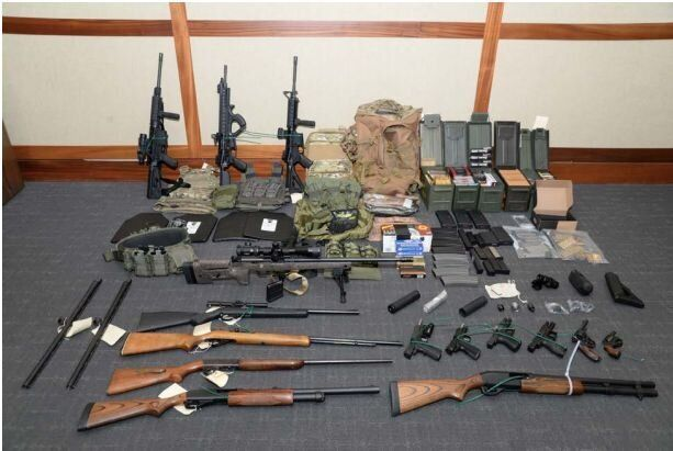 Weapons allegedly stockpiled by Christopher Hasson.