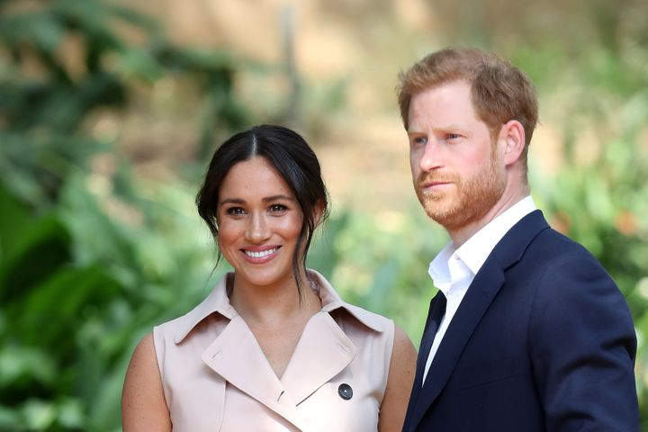 The Duke and Duchess of Sussex attend a Creative Industries and Business Reception on Oct. 2 in Johannesburg, South Africa.