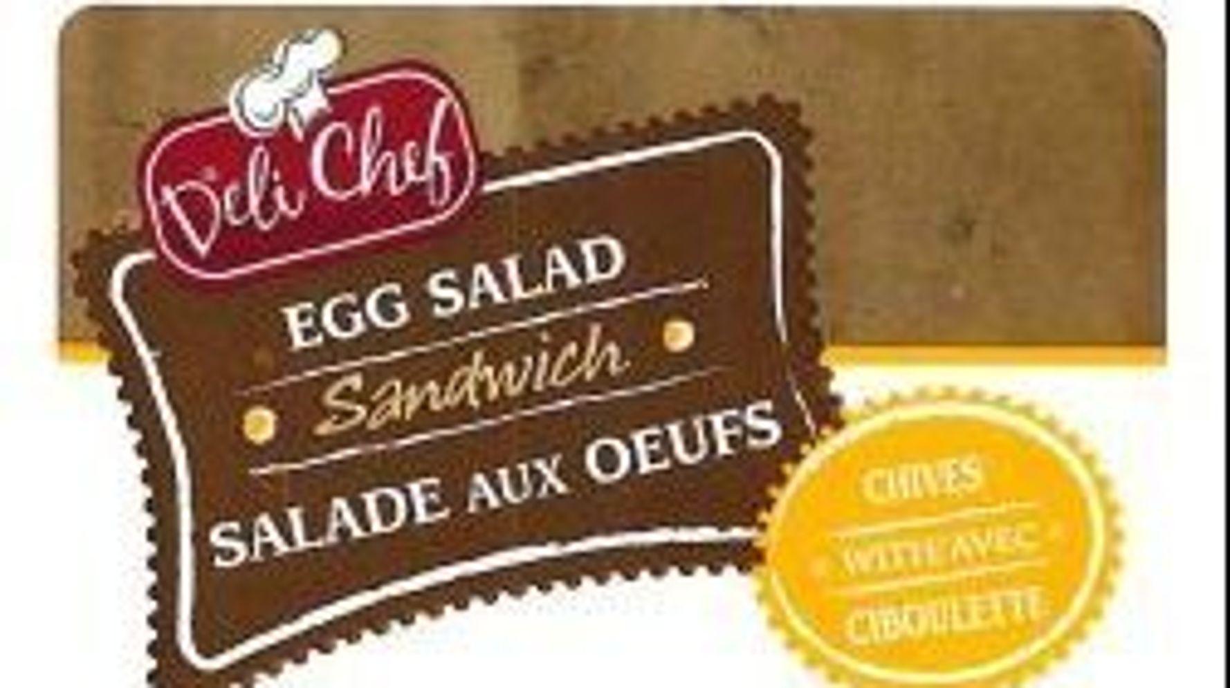 Rappel de sandwichs vendus au Québec