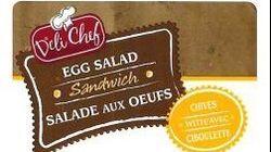 Rappel de sandwichs vendus au