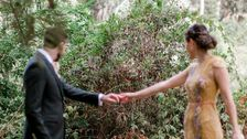 Ini Pengantin Pernikahan Pemotretan Terganggu Oleh Tatapan Makhluk Menggemaskan