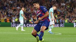 El Barça remonta al Inter con un doblete de Luis Suárez