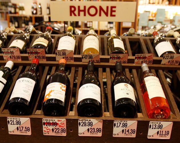 Les États-Unis vont taxer le vin français (photo d'illustration prise à New York...