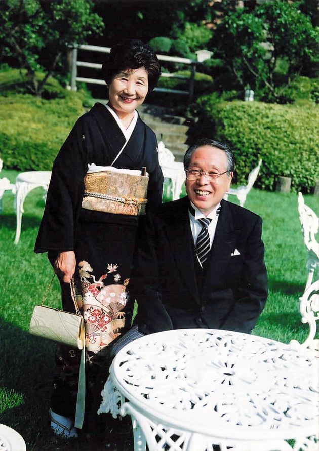村橋ゴローさんの結婚式の際のご両親。この2年後、お父様が亡くなった