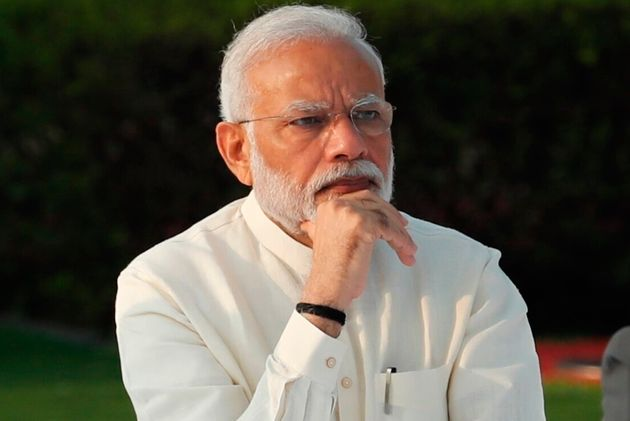 Prime Minister Narendra Modi at an event to pay tribute to Mahatma Gandhi on the 150th anniversary of...