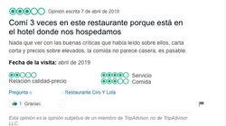 La obvia respuesta de un restaurante a este cliente inicia un 'toma y daca' entre