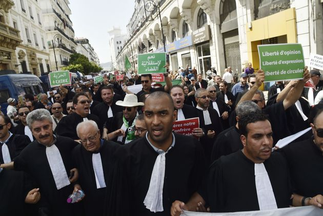Lawyers rally for change in the streets of the Algerian capital Algiers on July 11 2019, in the latest...