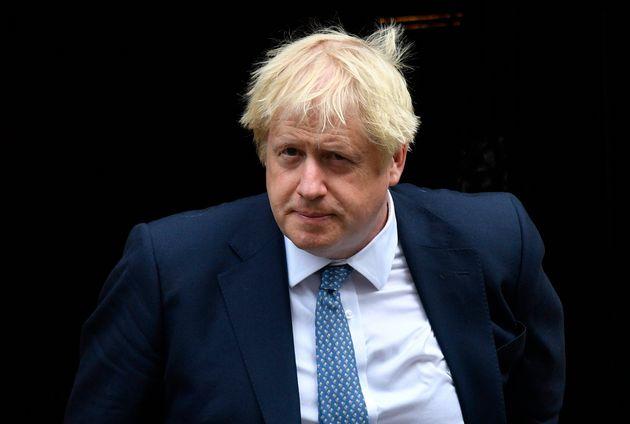 British Prime Minister Boris Johnson departs his official residence in London on Sept. 26, 2019. Johnson...
