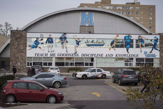 St. Michael's College School is seen here in Toronto on Nov. 19, 2018. Three former students of a prestigious...