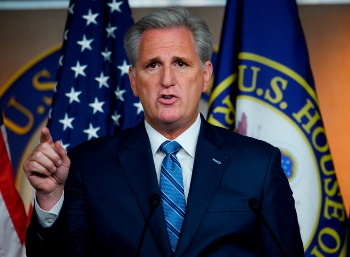 House Minority Leader Kevin McCarthy (R-Calif.) is among the GOP leaders spreading false information about the Ukraine whistl