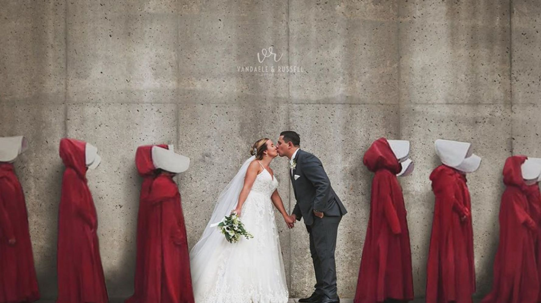 Westlake Legal Group 5d962f0d2100000d04f9fe33 Photographer Behind Shocking 'Handmaid's Tale' Wedding Pic Says It's Not What You Think