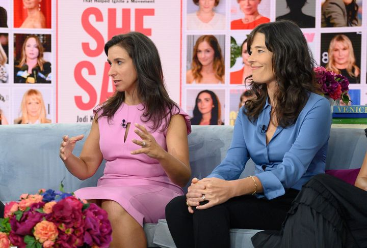 """Jodi Kantor and Megan Twohey during a """"Today"""" show appearance on Sept. 9, 2019."""