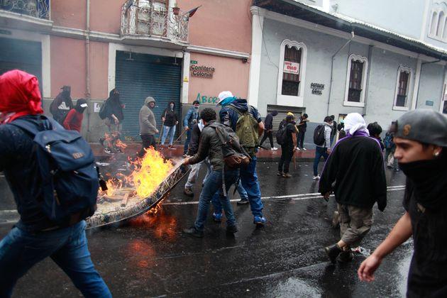 Protestas en las calles de