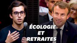 Accusé de ne faire que des hashtags pour l'écologie, Macron