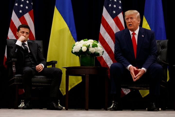 President Donald Trump meets with Ukrainian President Volodymyr Zelenskiy during the United Nations General Assembly on Sept.