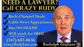 """Crazy Rudy"" fake subway ads"