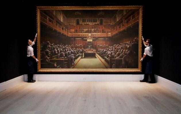 Banksy ironise après la vente de son
