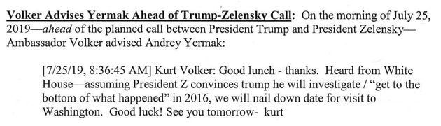 Newly Revealed Trump Administration Texts On Ukraine Appear To Show Clear Quid Pro
