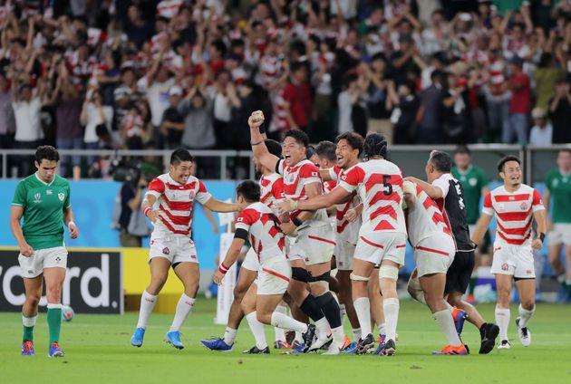 ラグビーW杯/アイルランドに勝利した日本