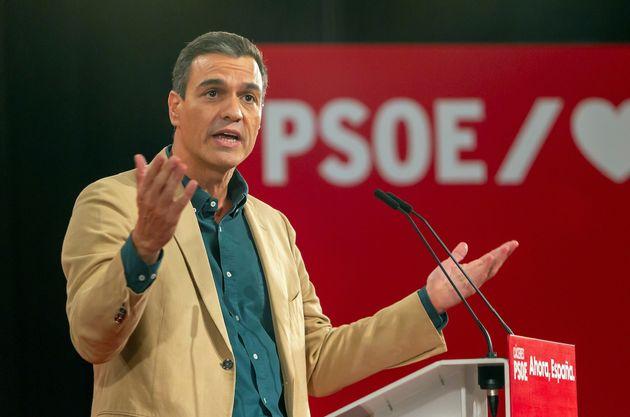 El presidente del Gobierno en funciones y secretario general del PSOE, Pedro