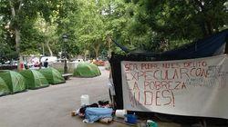 Desalojada la acampada de sin techo del Prado esta