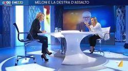 Duro scontro Gruber-Meloni in tv: